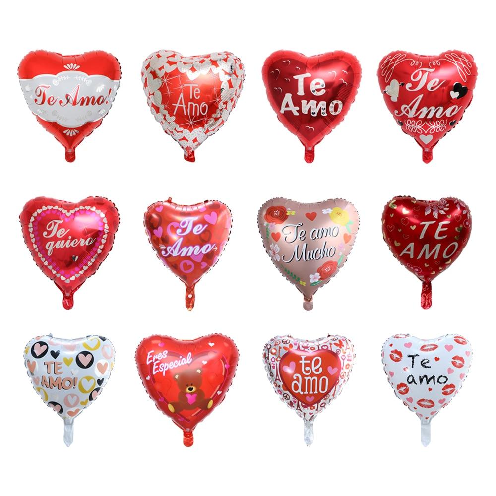 Фото - 10Pcs 18Inch Spanish TE AMO I Love You Foil Balloons For Valentine's Day Birthday Wedding Party Decoration Helium Air Globos 1pc 16inch te amo balloon spanish i love you foil letter baloon valentine s day wedding anniversary decoration supplies globos