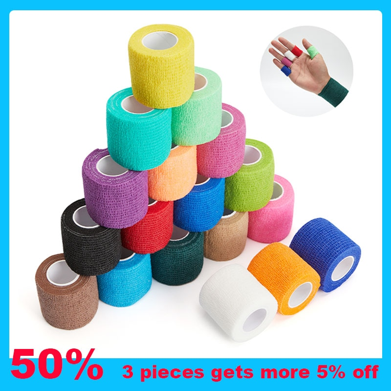 Colorful Sports Self Adhesive Elastic Bandage Safety Wrap Tape 4.5M Elastoplast for Knee Support Pad
