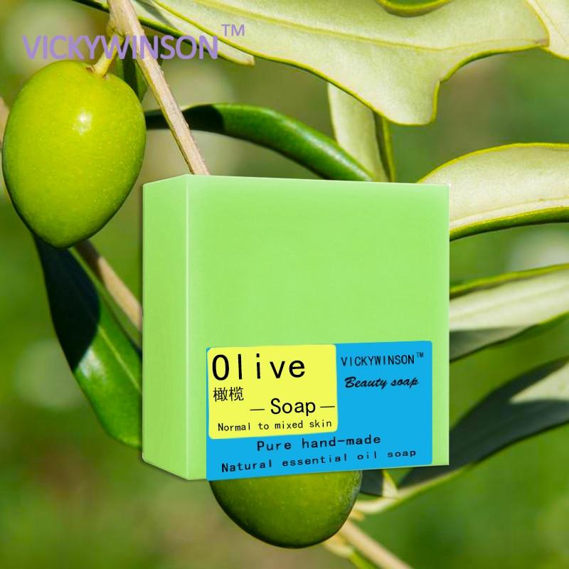 VICKYWINSON оливковое мыло ручной работы 100 г оливковое эфирное масло ручной работы древнее мыло трехлетнее сушеное мыло ручной работы