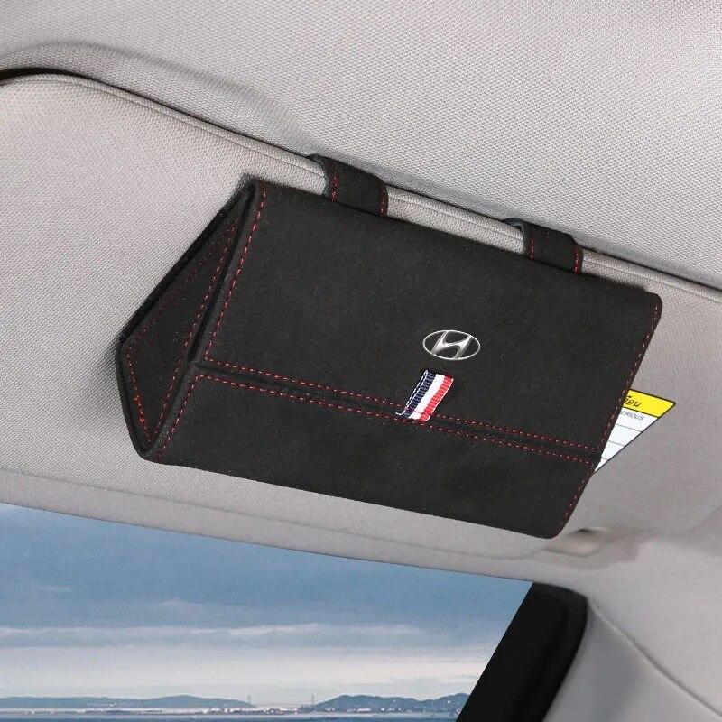Чехол для автомобильных очков Hyundai, зажим для автомобильных очков, чехол для автомобильных солнцезащитных очков, защитный футляр для очков