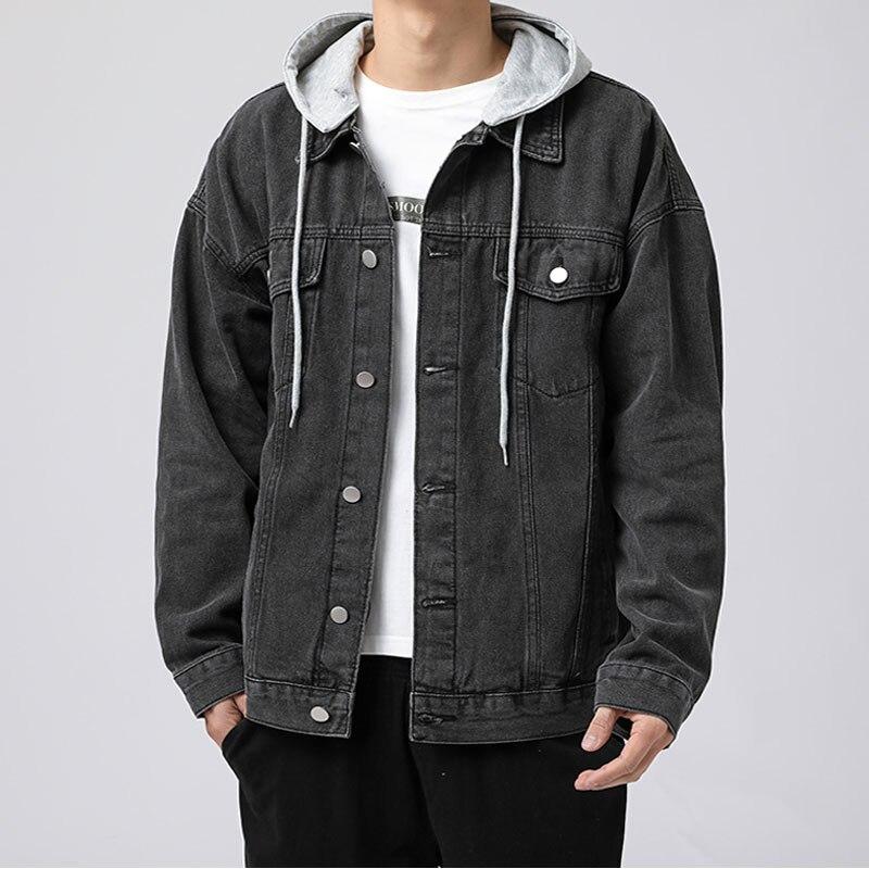 Denim Jackets Fashion Cotton jaqueta jeans men's Outsidewear New Spring Autumn Korean men Coats Streetwear homme Detachable Hood