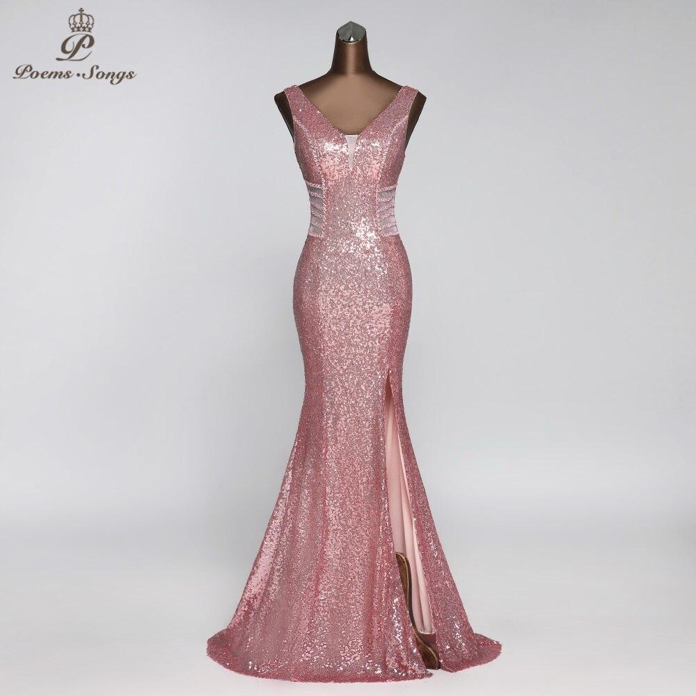 Sexy vestido de noite estilo da cintura vestidos de baile atraente robe de soiree vestidos elegantes memaid rosa vestido de festa