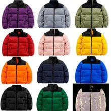 Winter America Brand Face Parkas Mixed Colors Couple Cotton Coats Casual Men's Stand Collar Pocket W