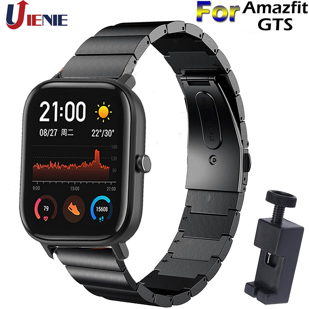 Correa de acero inoxidable de 20mm para Xiaomi Huami Amazfit GTS/GTR 42mm/Bip Lite Smart pulsera reloj Correa