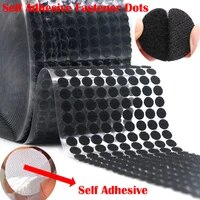 100pair self adhesive fastener tape 101520253060mm dots velcros adhesive strong glue hook and loop magic sticker nylon tape