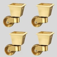 high quality 4pcs brass universal heavy furniture casters table chair sofa bar piano smoothly wheels rollers runners