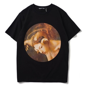 High Punk Novelty New Men Fashion T Shirts the bacchante Print T-Shirt Hip Hop Skateboard Street Cotton T-Shirts Tee Dog #N132