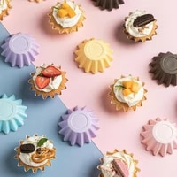 70 dropshipping 50pcs anti slip muffin cup solid color paper microwave safe cupcake liner kitchen tools