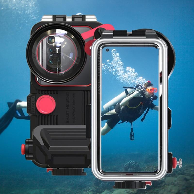بلوتوث الهاتف المحمول مقاوم للماء الإسكان آيفون 12 لهواوي ماتي 40 برو ل شاومي 9 تحت الماء الغوص العالمي