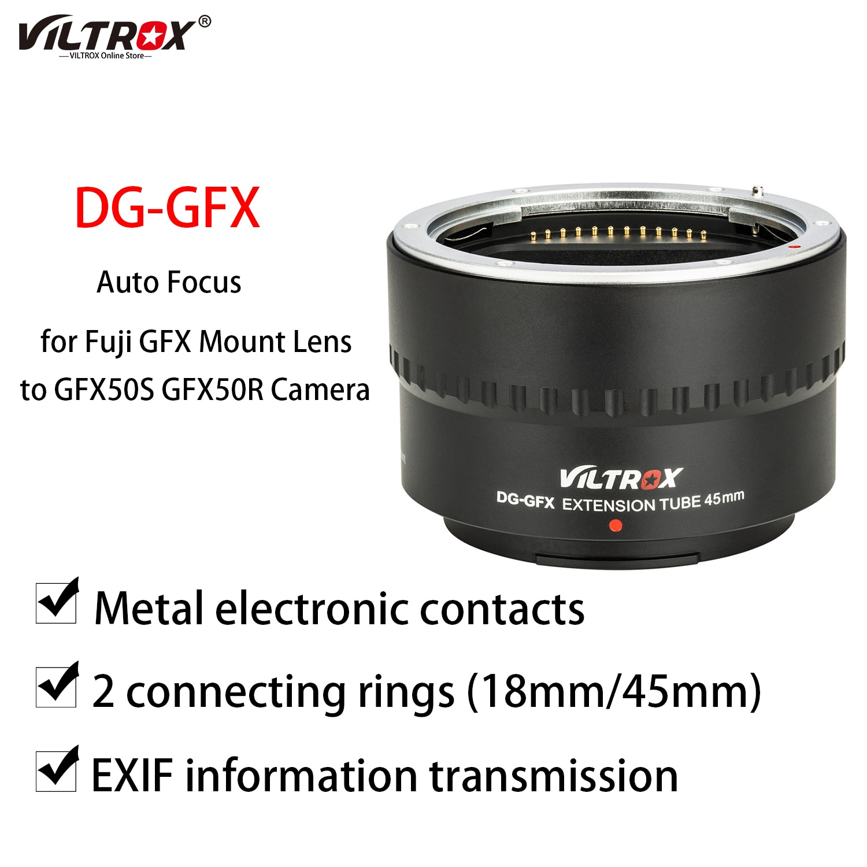 Viltrox DG-GFX 45MM Lens Auto Focus Macro Extension Tube Adapter Ring for Fuji GFX 50S 50R G Mount Medium Format Camera