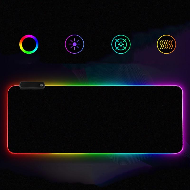 Alfombrilla de ratón Led colorida RGB para juegos, alfombrilla suave para ratón profesional para ordenador, alfombrilla de ratón para teclado Dota LOL, alfombrilla de escritorio