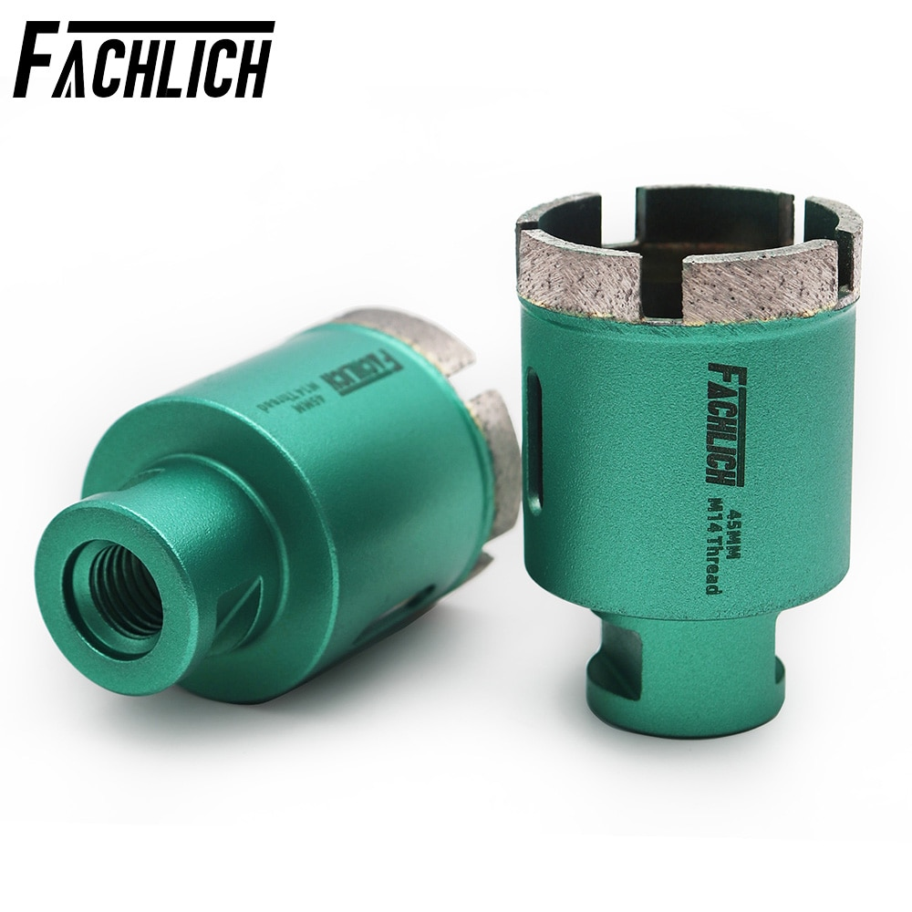 FACHLICH 2pcs/set Welded Diamond Cutter Bits Drilling Core Bits For Drilling Marble Granite M14 thread Drill Bits