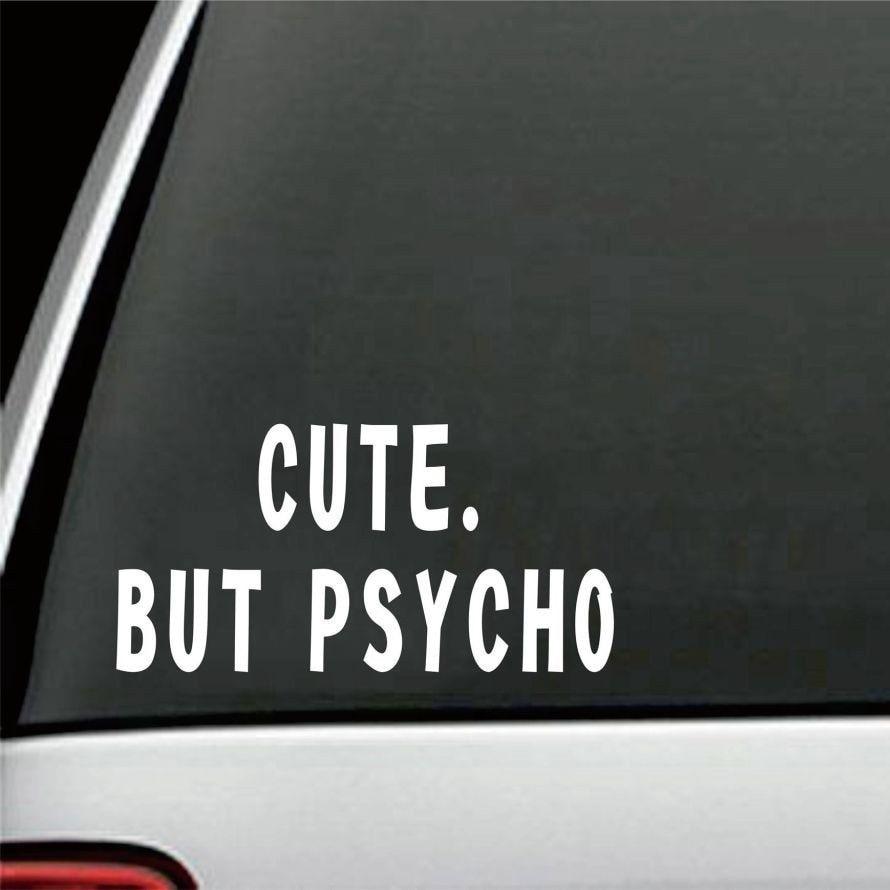 20*10cm lindo Pero Psycho coche parachoques pegatina Girly divertido Drift Jdm arte de la pared pegatina a la moda calcomanías