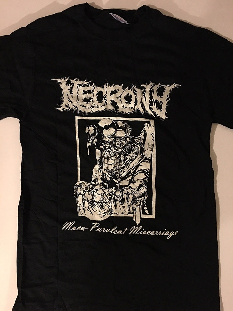 Camiseta de Necrony Death Metal Grindcore goresgrind Carcass Xysma S Xl camisetas de manga libre moda camiseta superior