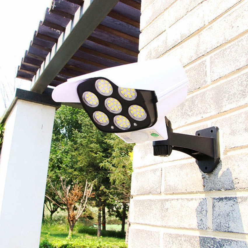 Outdoor Solar Light, Motion Sensor Security Lights 77 SMD LED Waterproof Solar Wall Lights with Remote Control, for Garden Patio