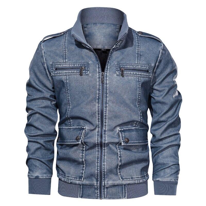 BONJEAN-معطف رجالي من جلد البولي يوريثان ، ملابس خارجية ، ياقة واقفة ، نحيف ، صوف ، أكمام طويلة ، ملابس خارجية ، خريف 2020 ، BJ3288