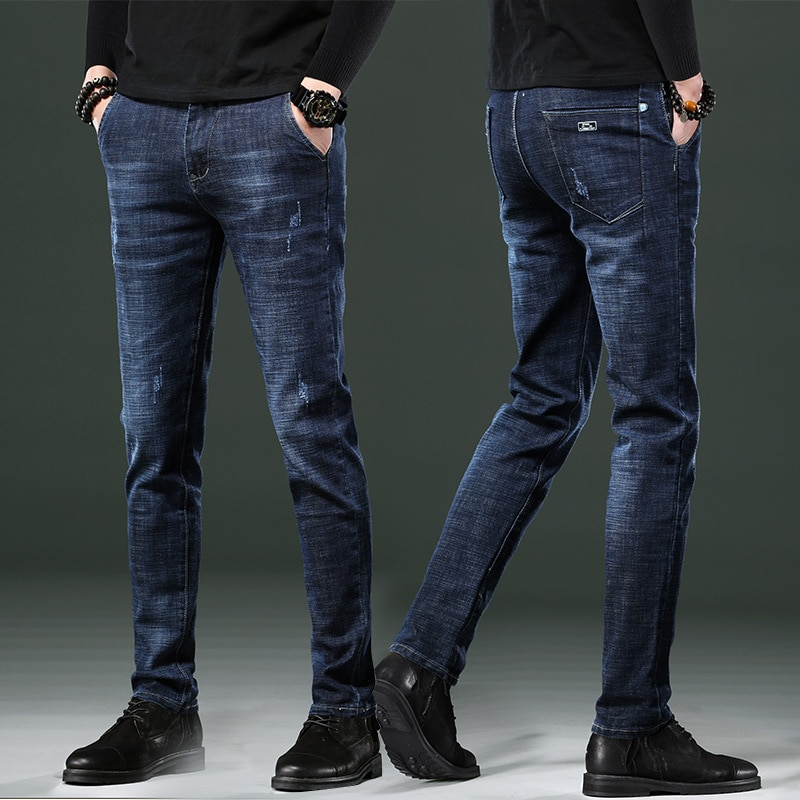 2021 new men's jeans spring and autumn pants trendy casual trousers