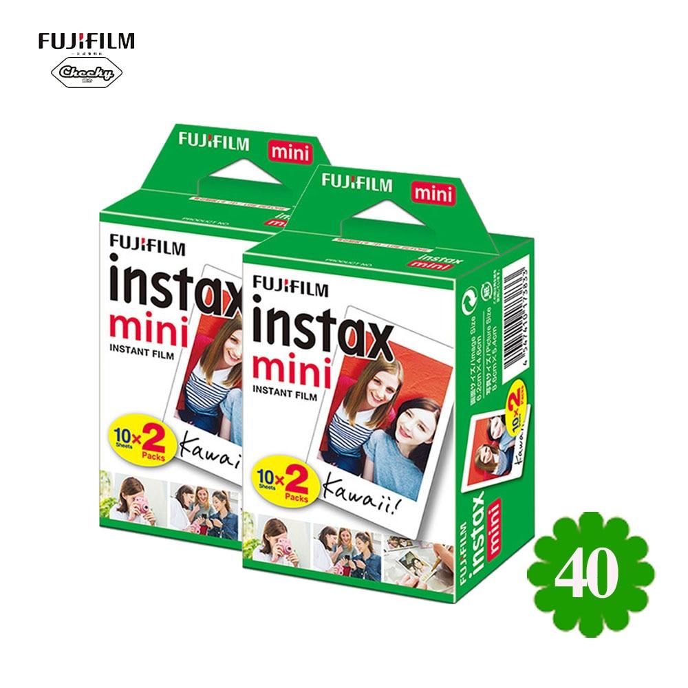 Fujifilm-ورق صور أبيض صغير ، 40 قطعة ، لألبوم صور Fujifilm Instax Mini 7s/7c/8/25/90/9 Snapshot ، طباعة فورية