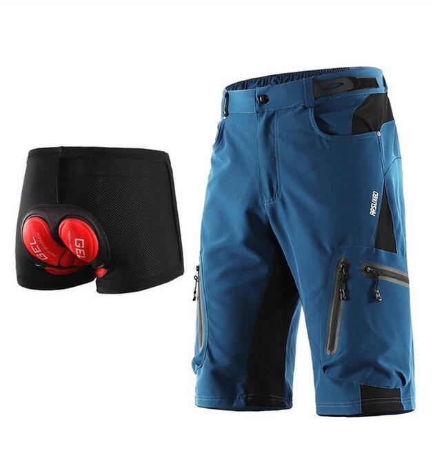 Мужские велосипедные шорты ARSUXEO, свободные велосипедные шорты для спорта на открытом воздухе, велосипедные шорты для горного велосипеда, Во...