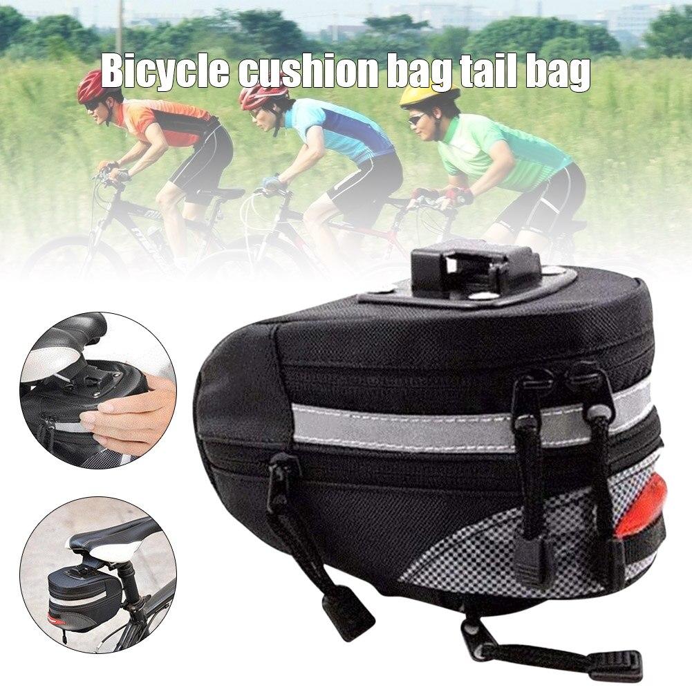 Bolsa de sillín de bicicleta multifuncional, para almacenamiento de asiento trasero, para exteriores, SEC88