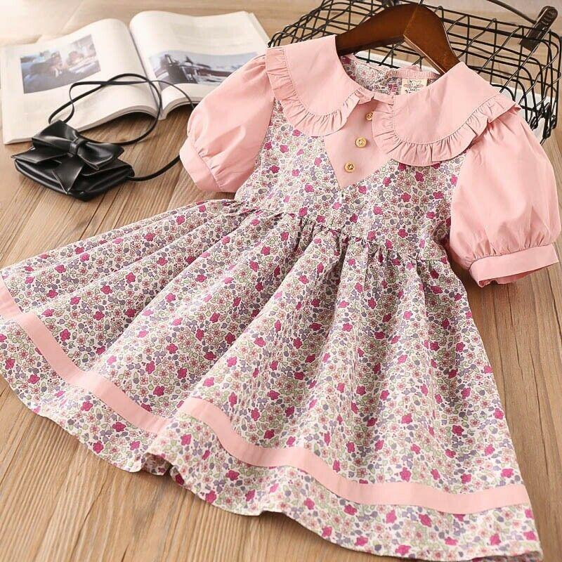 AA Vestidos para bebés y niñas pequeñas, Vestidos de moda de manga...
