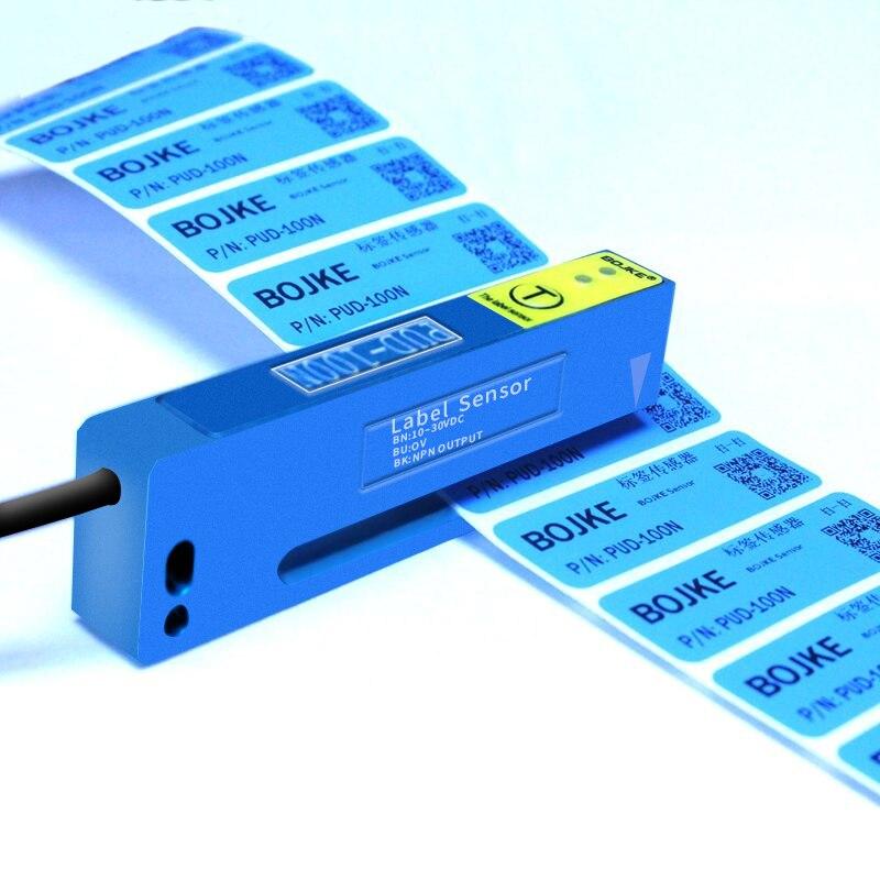 Garantía de dos años BOJKE Bo Yi Jinke PUD-100N sensor autoadhesivo de detección de etiquetas interruptor fotoeléctrico pelado