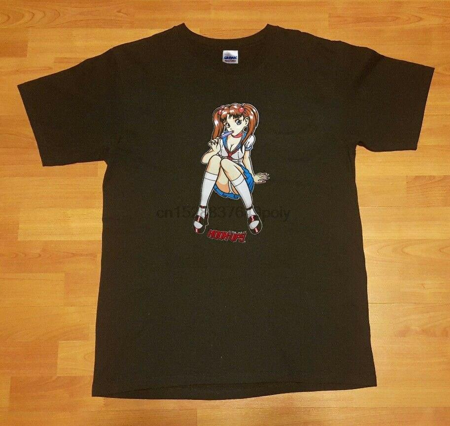 Raro vintage gancho ups camisa grande skate jeremy klein sean cliver anime t