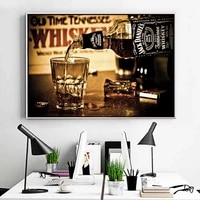 whiskey drinks wall posters and prints modern canvas art painting print on canvas bar decorative pictures for home decor cuadros