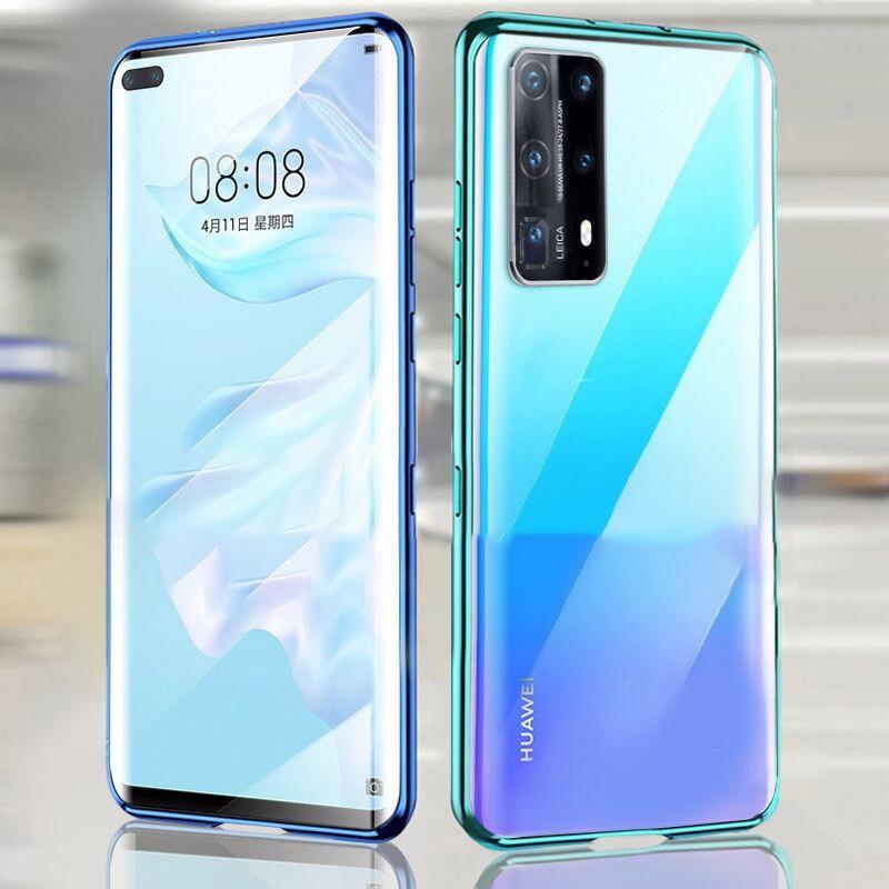 Funda magnética de Metal 360 para Huawei Mate 30 20 P40 30 20 Pro Lite, cristal de doble cara para Honor 10 20 30 9X Pro 8X Nova 7 5 6