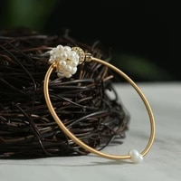 green purple natural pearl zircon globular bracelet woman personalized charm handmade bracelet bangle charm fashion jewelry