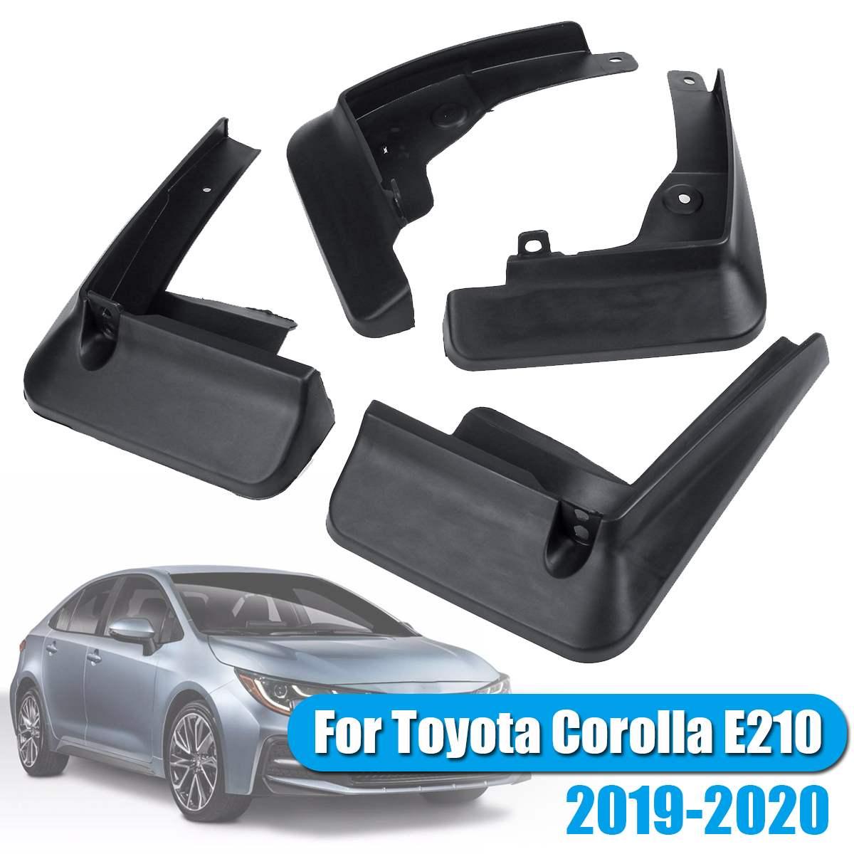 Nuevo 4 unids/set negro PP guardabarros delanteros traseros guardabarros para Toyota Corolla E210 2019-2020