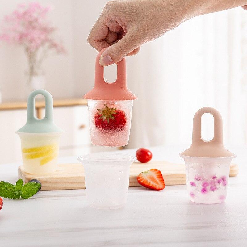 1pc mini molde de picolé molde de bola de sorvete molde de picolé de silicone lollipop molde de picolé diy sorvete molde de iogurte congelado gelo molde bandeja de gelo