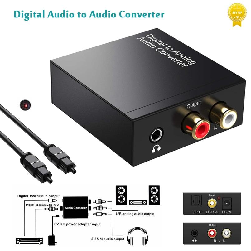 dac earphone amplifier usb type c to 3 5mm headphone jack audio adapter 32bit 384khz digital decoder aux converter realtek Digital to Analog Audio Converter Optical Fiber Toslink Coaxial Signal to RCA R/L 3.5mm Jack Adapter Audio Decoder DAC Amplifier