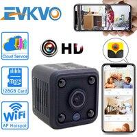 Мини-камера видеонаблюдения EVKVO HD, 1080P, встроенный аккумулятор, микрокамера, функция ночного видения, видеоняня