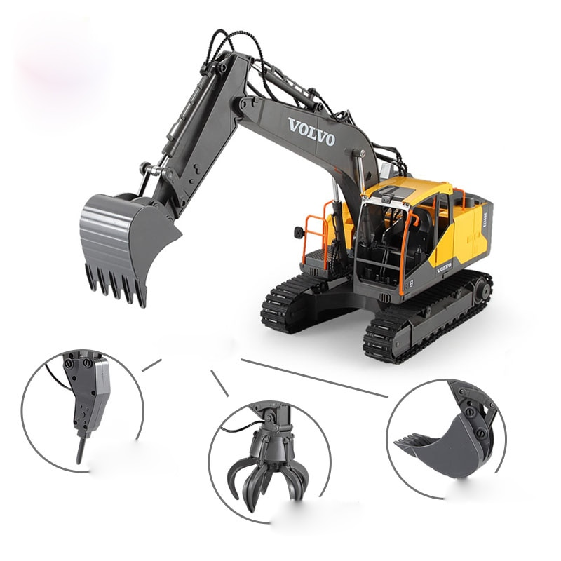 RC Excavator 1:16 Timber Grab Drill 17CH Remote Control Crawler Truck Grab Loader Electric Vehicle T