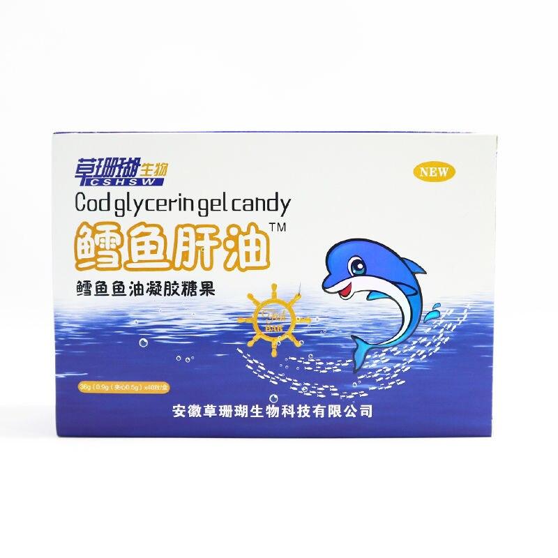 Cod Liver Oil Vitamin Fish Oil Children Teenager Students Adult Fish Oil Soft Capsule