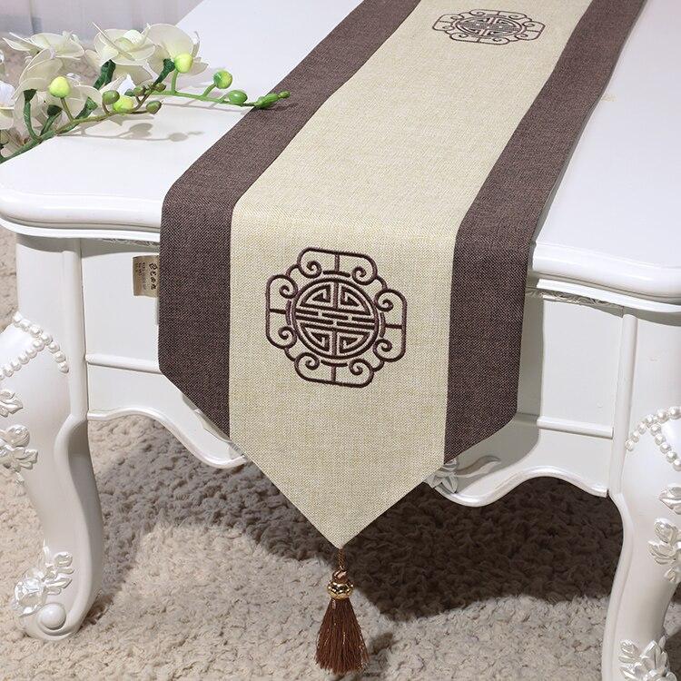 Joyous-مفرش طاولة مستطيل من القطن والكتان عتيق الطراز الصيني ، مفرش طاولة ، ديكور منزلي ، أغطية مائدة لتناول الطعام والقهوة