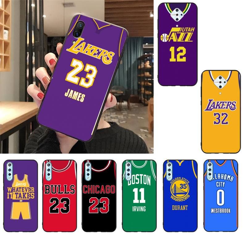 YJYDNHBD Basketball jersey Preto Caso de Telefone Celular Para A Vivo V17 Neo Y91C Y11 Y19 Y17 Y15 U1 U3 V11i IQOO V11 V15 Pro V17