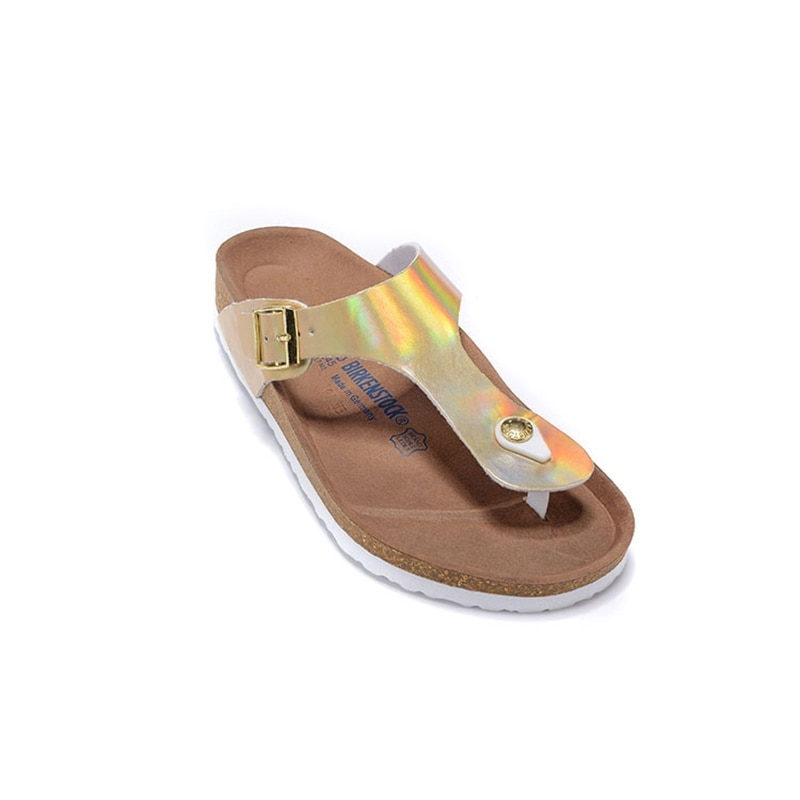 Sandalias BIRKENSTOCK para mujer, Chanclas de playa de verano, Sandalias Gizeh para mujer, zapatillas planas, zapatos, Chanclas, Sandalias 801