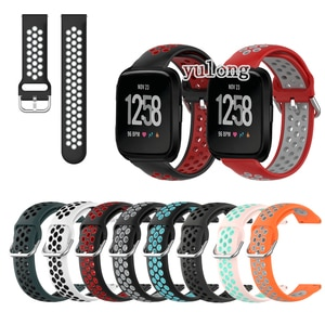 20mm 22mm Sport Silicone Breathable Strap For Fitbit Versa Lite 2 Smart Watch Wristband