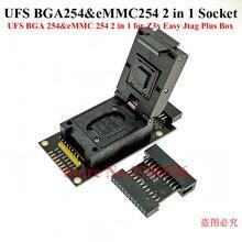 Последняя модель! Оригинал! UFS BGA 254 памяти на носителе eMMC 254 2 в 1 гнездо адаптера для Z3X легкий Jtag плюс коробка