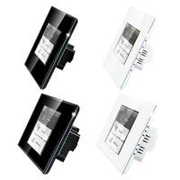 Interrupteur tactile intelligent 4 en 1  wi-fi  LCD  pour luminaire mural et rideau  compatible avec application Apple Homekit et commande vocale Siri