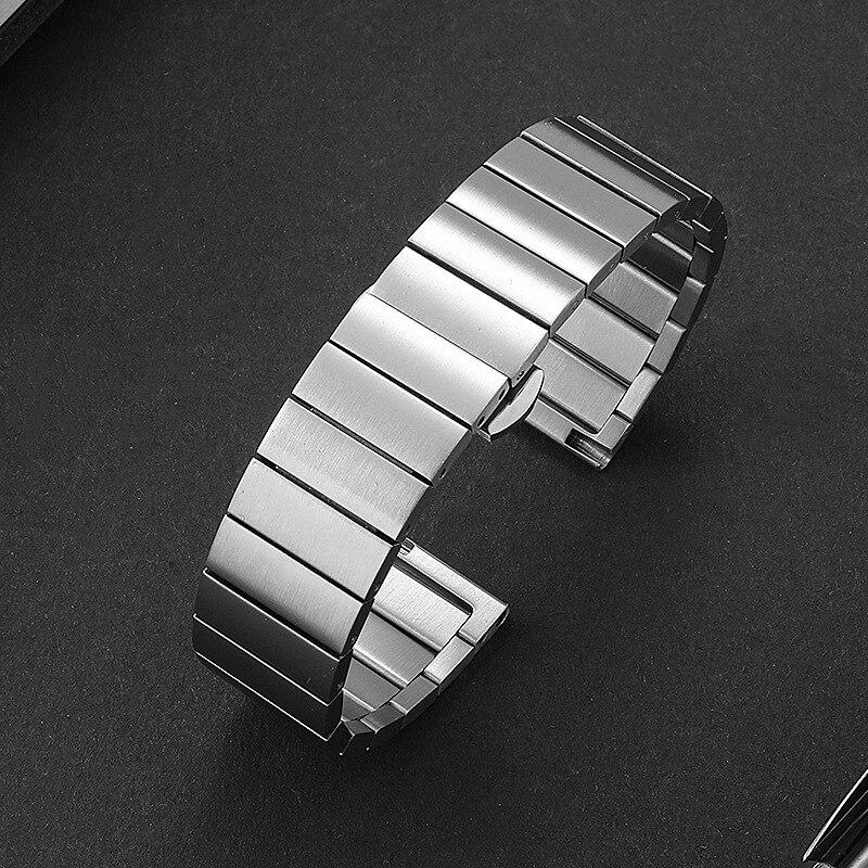 Pulseiras de aço inoxidável prata 16mm 18mm 20mm 22mm pulseira de relógio de metal pulseira relógios de pulso