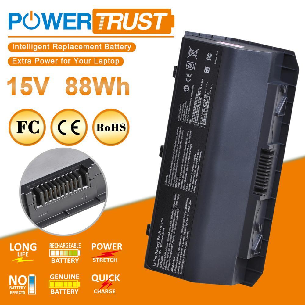 Bateria para laptop asus A42-G750, bateria para notebooks rog g750 series g750j g750jh g750jm g750jw g750jw g750jx pro cfx70»