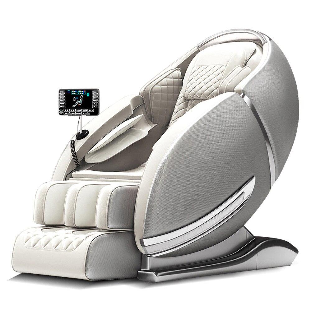 كرسي تدليك كهربائي فاخر جديد على شكل شاشة كبيرة تعمل باللمس وبسيط لكامل الجسم من المنتجات الأعلى مبيعًا موديل SL