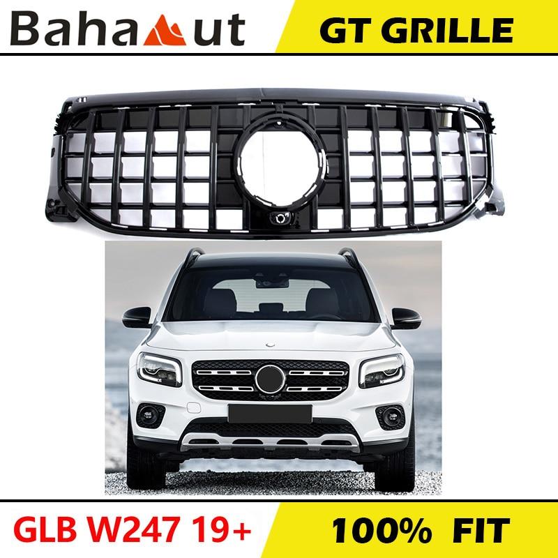 Preto barras de prata gtr gt estilo do carro frente corrida grille facelift para mercedes benz glb classe w247 x247 glb180 glb200 2020