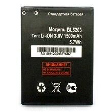BL5203 батарея для Fly IQ442 IQ 442 Quad Miracle 2 1500mAh Высокое качество запасные батареи для мобильного телефона