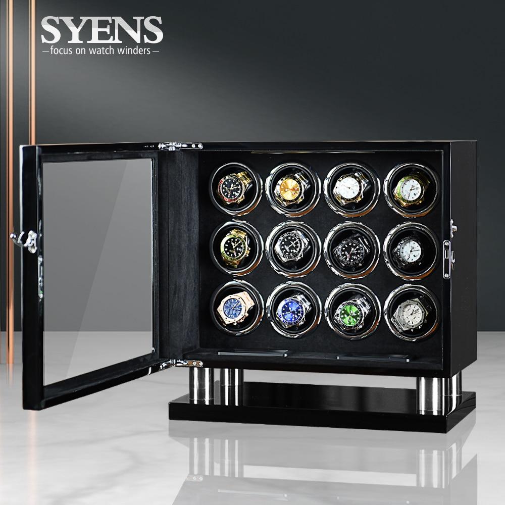 Deluxe Automatic Watch Winder Box 12 slots Holder Organizer Mechanical Watch Display Luxury Japanese Motor Shaker Birthday gift enlarge