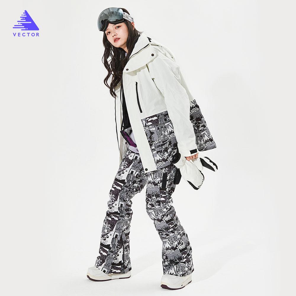 detector women s winter ski snowboard jacket waterproof windproof coat outdoor ski clothing women warm clothes VECTOR  Men Women Ski Ski Jacket Ski Pants Winter Warm Windproof Waterproof Outdoor Sports Snowboard Ski Coat Trousers