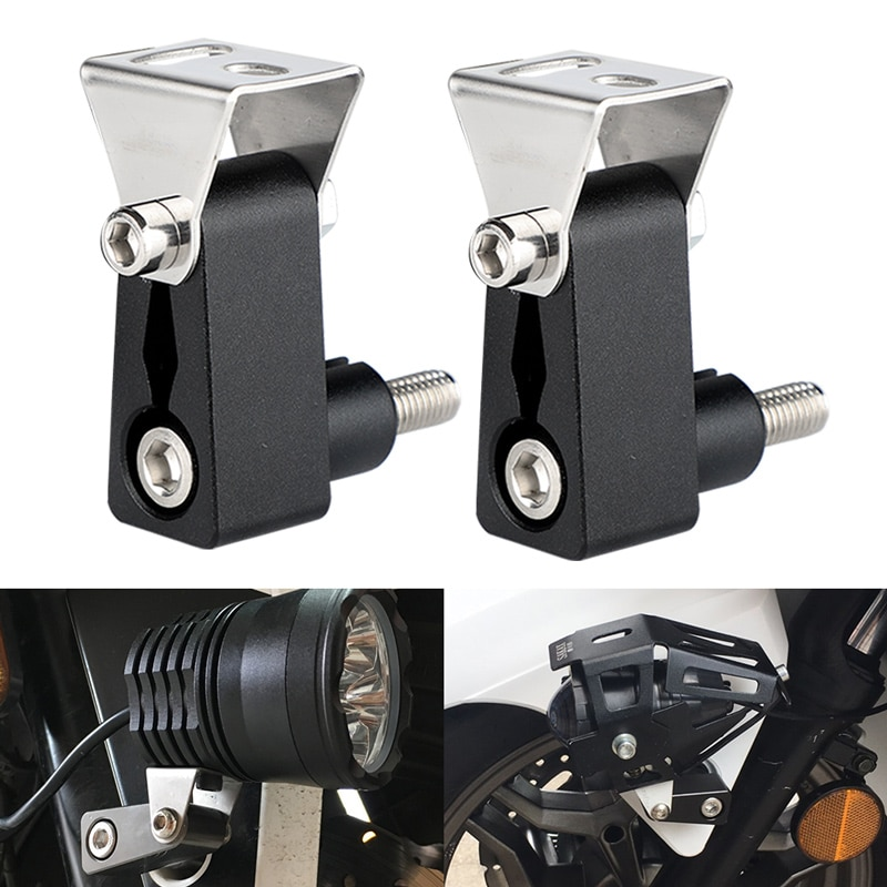 Deri spotlight suporte de luz moto rcycle inferior garfo montar luzes titular suporte phare moto farol de milha para bicicleta cafe racer